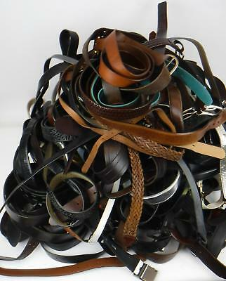 Lot of 36 lbs Mixed Belts Various Styles Mens & Womens from Lost & Found