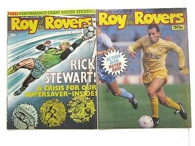 2 x ROY of the ROVERS COMICS. SEP & OCT 1988. BILLYS BOOTS, JIMMY,TERRIBLE TWINS