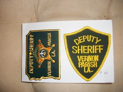 Vernon Parish Deputy Sheriff Louisiana Police Patch New And Old Style 2 Patches