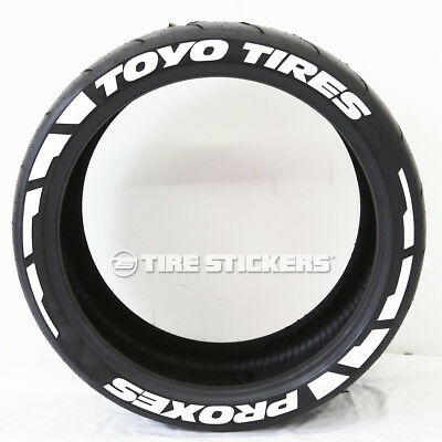 """TOYO TIRES PROXES """"Frost"""" Tire Lettering  - 1.00"""" 15""""-18"""" TIRE STICKERS White"""