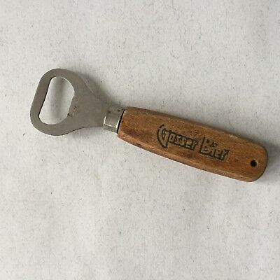 Vintage Gosser Bier Bottle Opener With Wooden Handle