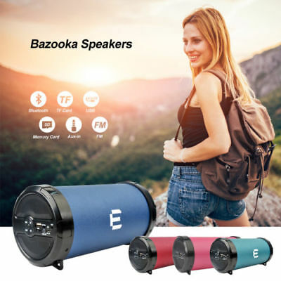 Portable Speaker Bluetooth Wireless Hi-Fi Super Bass FM TF AUX Cable Music Gifts