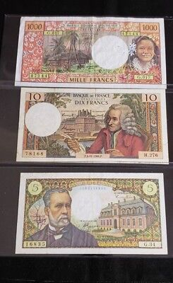 """A Lot of 3 Francs Bank Note  """" We Combine Shipping """""""