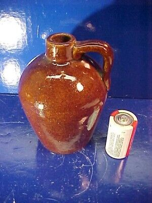Early 20thc ROYCROFT East Aurora NY Small BENNINGTON Glaze YELLOWARE JUG