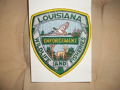 Louisiana Wildlife And Fisheries Enforcement Police Patch New