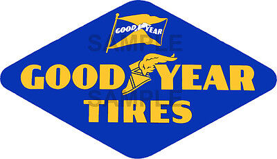 2 Inch Vintage Style Good Year Tire Decal Sticker Several Sizes Available