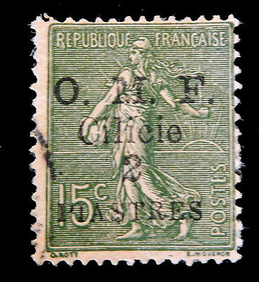 French Postage Stamp 1919/Overprinted O.M.F. Cilicie / 2 piastres/  Used
