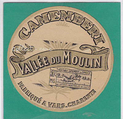M38 Fromage Camembert Vallee Du Moulin Vars Charente 30 % M.g.