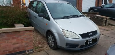 54 plate Ford Focus C-max LX  Silver 1.8 petrol. Runs but TLC / repair needed.