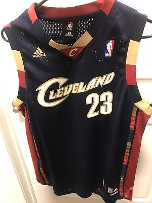 reputable site fa132 6f963 CLEVELAND CAVALIERS LEBRON James Authentic Jersey - Adidas Kid's Size XL