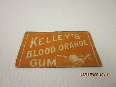 early 1900s Rare kelleys blood orange chewing GUM wrapper