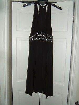 Womens/Ladies clothes Black Party Dress size 10 from QUIZ
