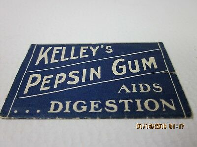 early 1900s Rare kelleys pepsin chewing GUM wrapper