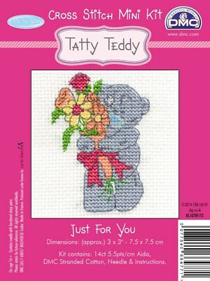 DMC Me to you Tatty Teddy Mini Counted Cross stitch Kit - Just for you