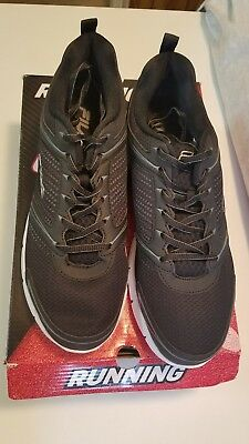 464c91681f76 Fila Men s Windstar 2 Running Shoes Black Black Metallic Silver 13 US  Excellent