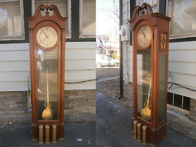 Vintage Herschede 5 Tube Grandfather Clock