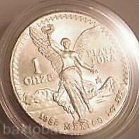 1985 MEXICAN LIBERTAD COIN 1 oz. SILVER NUDE ANGEL *UNC*