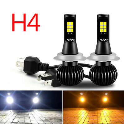 LED H4 COB Bulb Blanc Jaune Dual Headlight Phare de voiture Ampoule Fog Light B7
