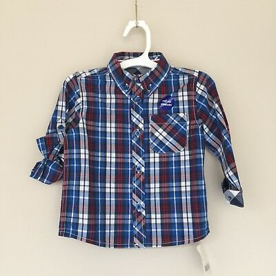 Mothercare Boy Checkered Shirt 18/24 Months Toddler New With Tag