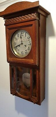 Vintage  Chiming Wall Clock & Key