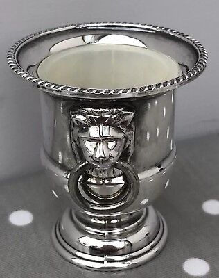 Viners Of Sheffield Vintage Silver Plated Small Urn With Lion Head Handles