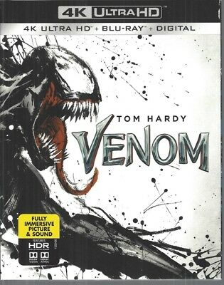 Venom (4K Ultra HD + Blu-ray + Digital, 2018) USED with Slipcover!!!