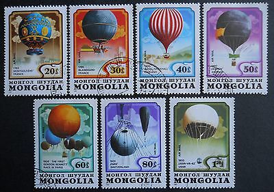 Mongolia Stratosphere Balloons set of 7 (cto) stamps 1982 SG1494-1500