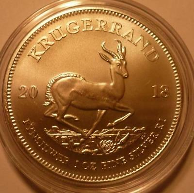 2018 SOUTH AFRICA *KRUGERRAND* 1 oz. SILVER COIN *BU*