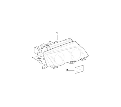 Bmw Genuine Xenon Light Headlight Head Lamp Cover Strip Right E46