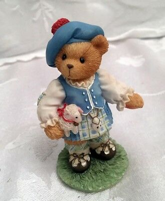 """Cherished Teddies Scotland """"Our Love Is In The Highlands"""" Statue Girl Lamb w/Box"""