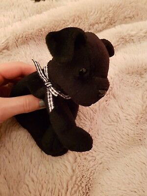 Luke the labrador Ty beanie baby - dog retired babies black cute puppy bow