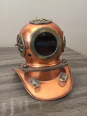 Antique Nautical Brass Divers Helmet Scuba Helmet