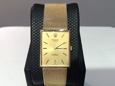 Rare 1970 ROLEX Ref. 4089 CELLINI 18K Solid Yellow Gold Watch Manual Cal. 1600!!