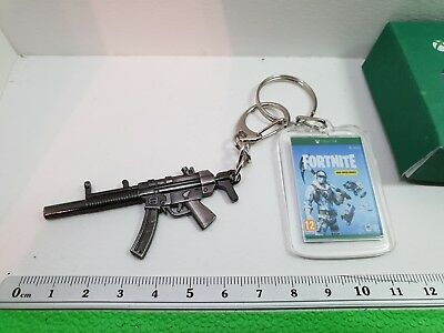 Xbox One Fortnite Deep Freeze Bundle & Weapon Double Keyring/Bag Charm/Dangle