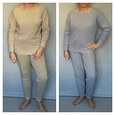 New Knitted Loungewear / Lounge Set Jogging Suit - Beige Or Grey