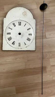 Vintage  Weight Driven Long Case Clock Movement And Face