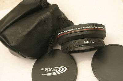Digital Advance Pro Wide Angle .48X lens arrachment. 72mm screw in fit