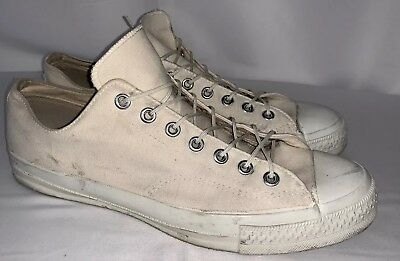 Vintage 1982 Us Army Navy Military Training White Canvas Converse Sneakers Sz 12