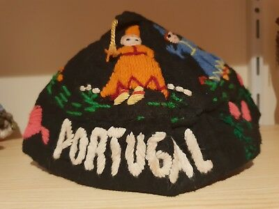 Traditional Embroidered Portuguese Hat made of felt