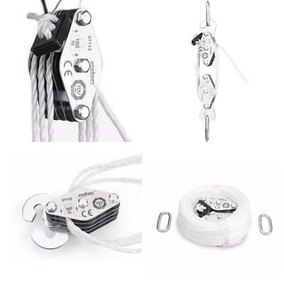 Showhas Cargo Lifting Pulley Set, M  Kg,Winch Hoist Rope Pulley Block Puller Ki