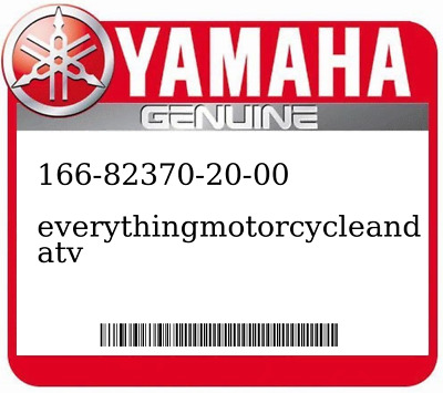 Air Intake & Fuel Delivery Motorcycle Parts Yamaha OEM Part 166