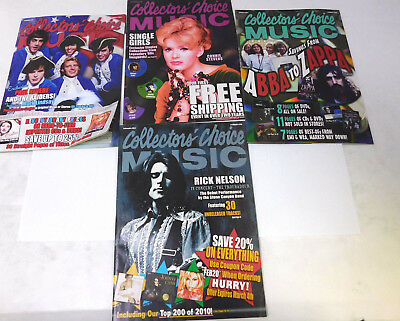 Lot of 4 Collectors' Choice Music Magazine Catalog 2010-2011 Frank Zappa