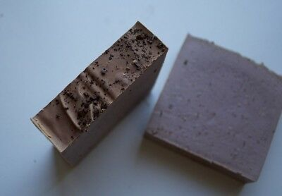2x Cookies & Cream Exfoliating Soap Bar Handmade Cold Process Vegan Coffee