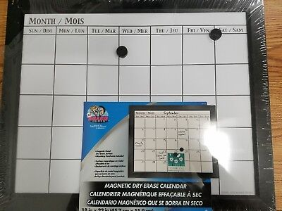 Board Dudes 18 x 22 Inch Magnetic Dry Erase Calendar English/French