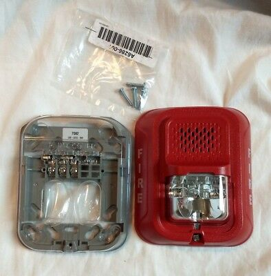 SYSTEM SENSOR WALL HORN STROBE P2RL RED INDOOR 2 WIRE ~ no box included