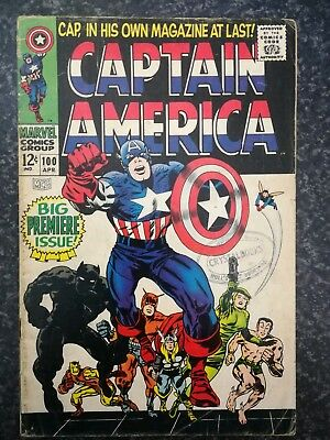 Captain America #100_April 1968__Big Premier Issue_Jack Kirby!