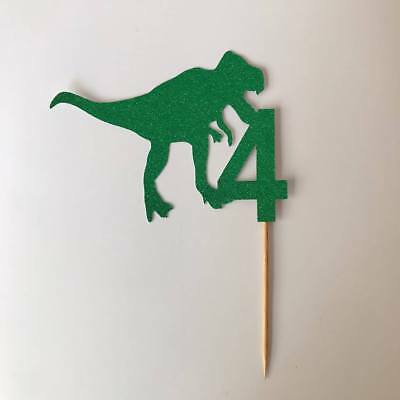 Dinosaur Cake Topper - Birthday cake topper decoration, Custom Age #