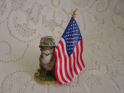 "Charming Tails ""Protector of Freedom"" Military Figurine #98/298 Fitz and Floyd"