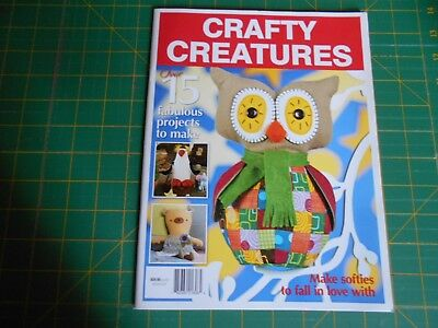 Crafty Creatures Magazine (2018) - Fifteen Projects - Good Condition -