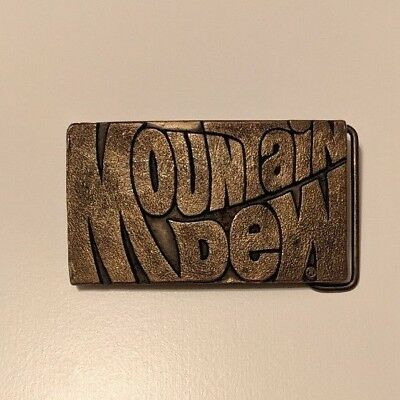 Mountain Dew Belt Buckle - Vintage Pepsi Company Item - Made in USA!